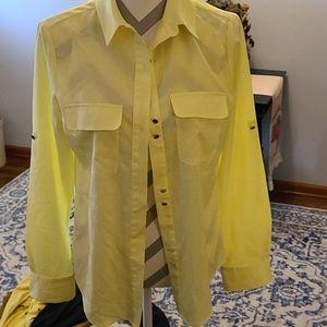 Ivanka Trump sz M bright neon yellow shirt